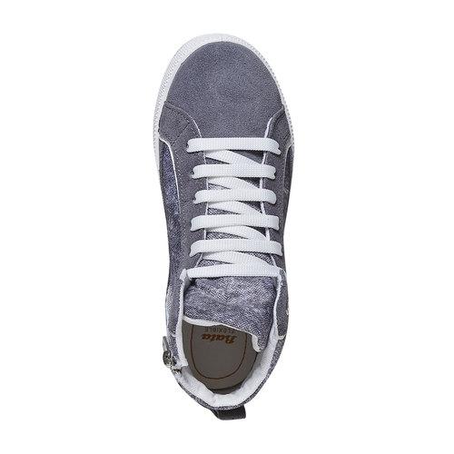 Sneakers da bambino sopra la caviglia flexible, grigio, 311-2245 - 19