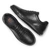 Sneakers Flexible in vera pelle flexible, nero, 844-6709 - 26