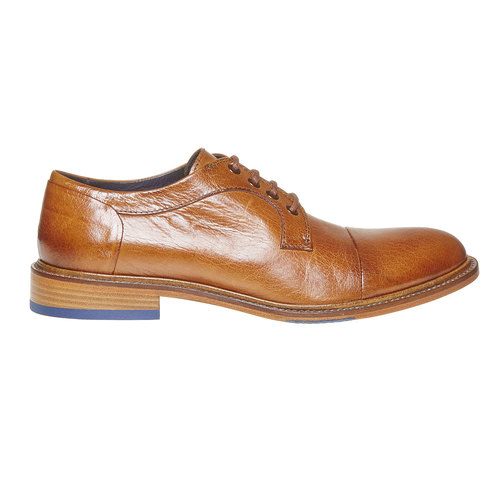 Scarpe basse di pelle da uomo bata-the-shoemaker, marrone, 824-3293 - 15