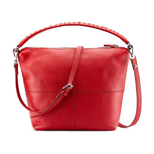 Hobo bag in pelle bata, rosso, 964-5121 - 26