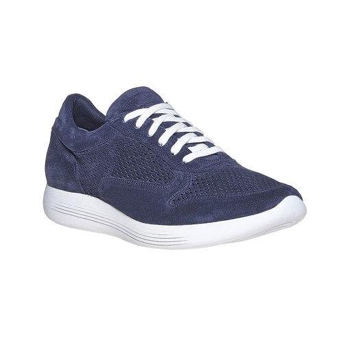 Sneakers in pelle da uomo flexible, blu, 843-9703 - 13