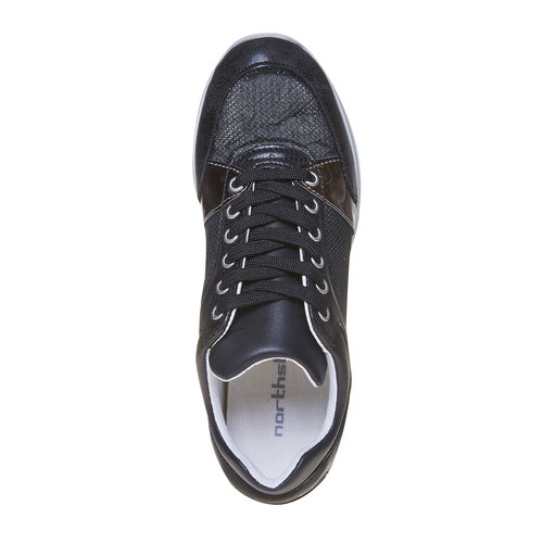 Sneakers nere da donna north-star, nero, 541-6205 - 19