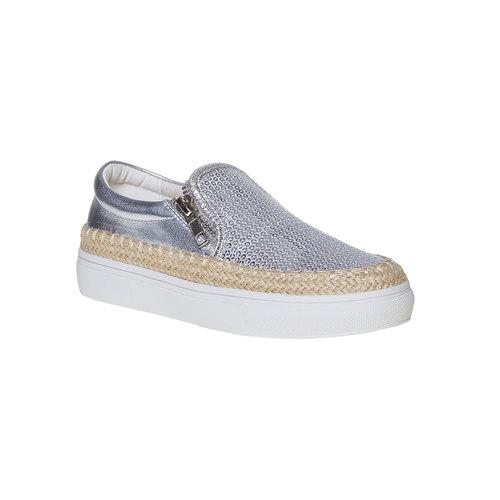 Slip-on argentate da ragazza mini-b, grigio, 329-2247 - 13