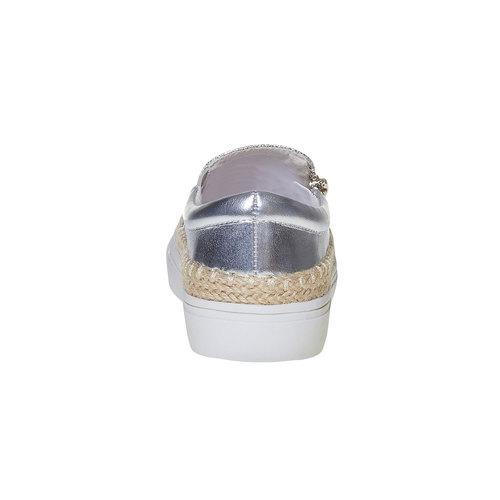 Slip-on argentate da ragazza mini-b, grigio, 329-2247 - 17