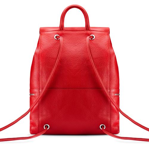 Zainetto in pelle bata, rosso, 964-5259 - 26