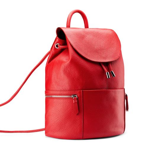 Zainetto in pelle bata, rosso, 964-5259 - 13