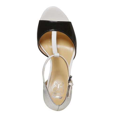 Sandali da donna con tacco insolia, nero, 761-1259 - 19