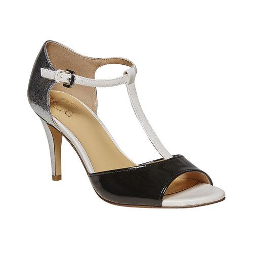Sandali da donna con tacco insolia, nero, 761-1259 - 13