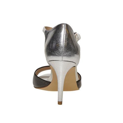 Sandali da donna con tacco insolia, nero, 761-1259 - 17