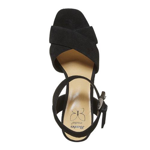 Sandali con tacco e plateau insolia, nero, 763-6502 - 19