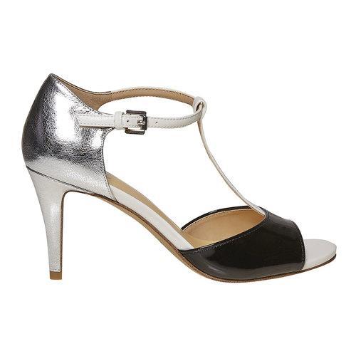 Sandali da donna con tacco insolia, nero, 761-1259 - 15