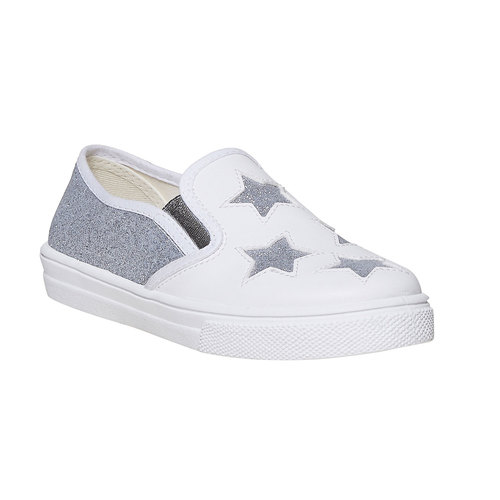 Slip-on da bambina con glitter north-star, bianco, 324-1274 - 13