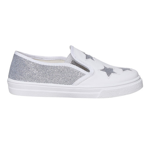 Slip-on da bambina con glitter north-star, bianco, 324-1274 - 15