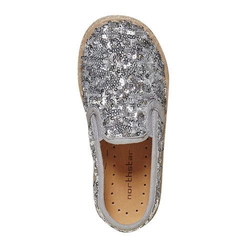 Slip-on da bambina con paillettes, grigio, 229-2187 - 19