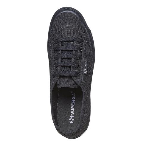 Sneakers nere da donna superga, nero, 589-6687 - 19