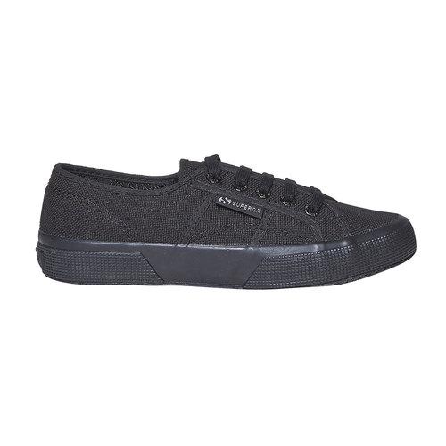 Sneakers nere da donna superga, nero, 589-6687 - 15