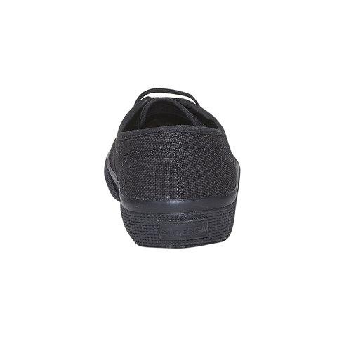 Sneakers nere da donna superga, nero, 589-6687 - 17