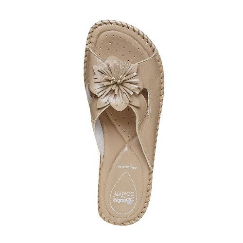 Pantofole da donna con tacco a zeppa, beige, 674-3121 - 19