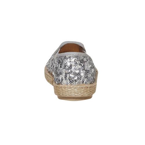 Slip-on da bambina con paillettes, grigio, 229-2187 - 17