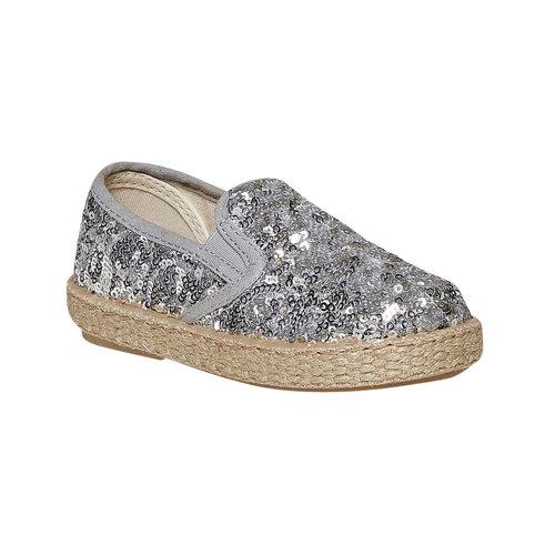 Slip-on da bambina con paillettes, grigio, 229-2187 - 13