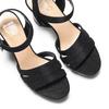 Sandali con tacco quadrato insolia, nero, 769-6700 - 26