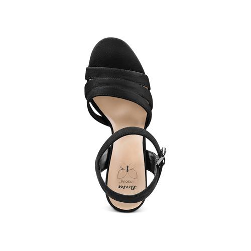 Sandali con tacco quadrato insolia, nero, 769-6700 - 17