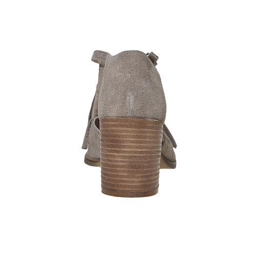 Sandali da donna con frange bata, grigio, 763-8519 - 17