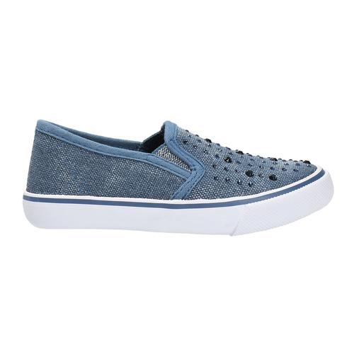 Scarpe da bambina in stile Slip-on, blu, 229-9193 - 15