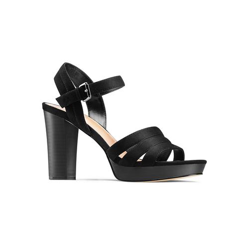 Sandali con tacco quadrato insolia, nero, 769-6700 - 13