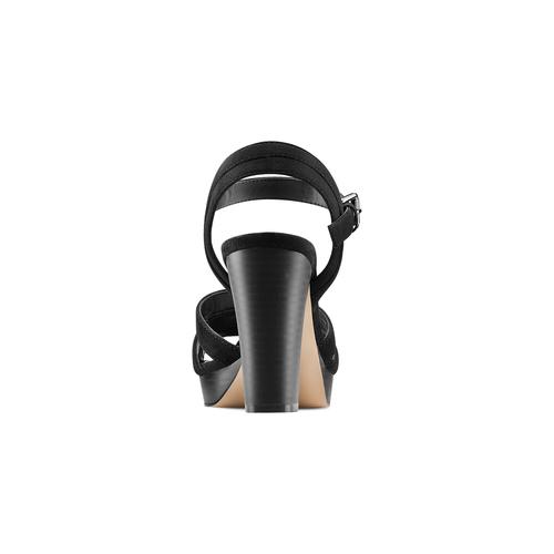 Sandali con tacco quadrato insolia, nero, 769-6700 - 15