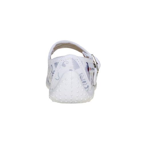 Ballerine da bambina con cinturino sul collo del piede superga, bianco, 169-1131 - 17