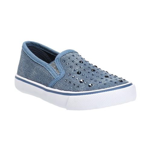 Scarpe da bambina in stile Slip-on, blu, 229-9193 - 13