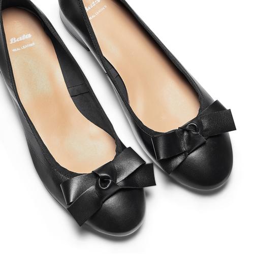 Ballerine con tacco bata, nero, 524-6420 - 26