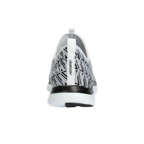 Sneakers da donna con motivo skechers, bianco, 509-1967 - 17