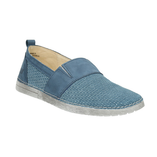 Slip-on in pelle blu weinbrenner, blu, 513-9263 - 13