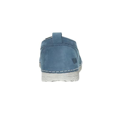 Slip-on in pelle blu weinbrenner, blu, 513-9263 - 17