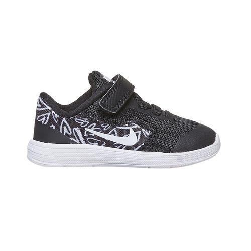Sneakers da bambina con chiusura a velcro nike, nero, 109-6149 - 15