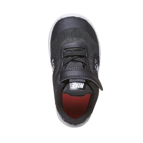 Sneakers da bambina con chiusura a velcro nike, nero, 109-6149 - 19