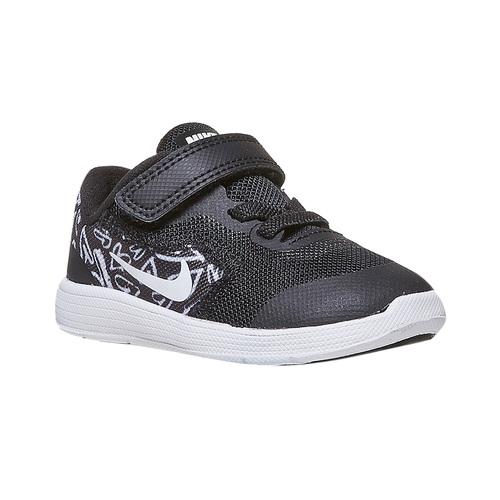 Sneakers da bambina con chiusura a velcro nike, nero, 109-6149 - 13