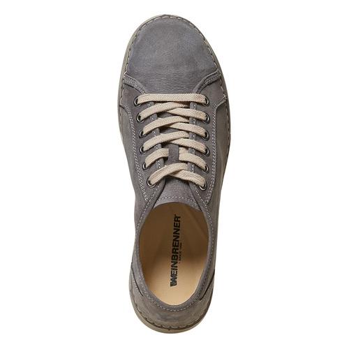 Scarpe basse casual da donna in pelle weinbrenner, grigio, 546-2201 - 19