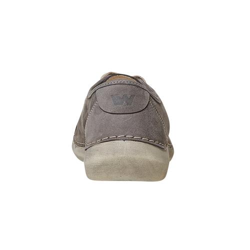 Scarpe basse casual da donna in pelle weinbrenner, grigio, 546-2201 - 17