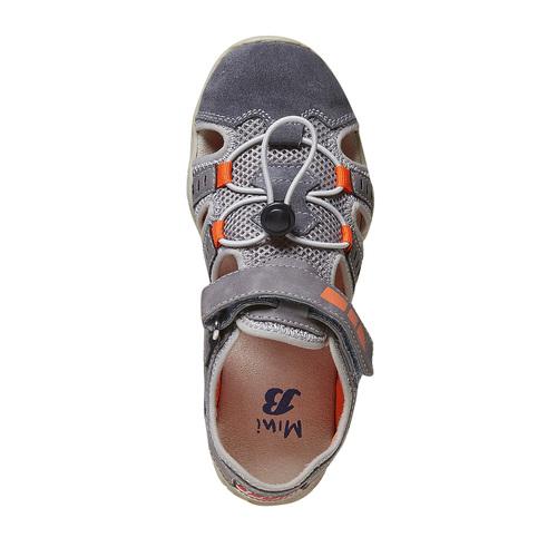 Sandali da bambino mini-b, grigio, 361-2218 - 19