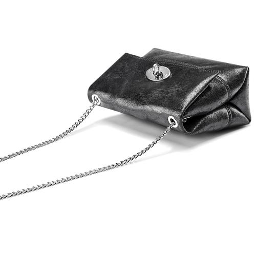 Mini-bag in pelle nera bata, nero, 964-6239 - 17