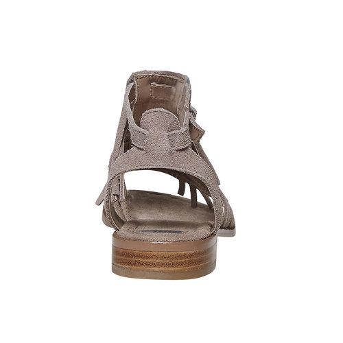 Sandali in pelle con frange bata, beige, 563-2442 - 17