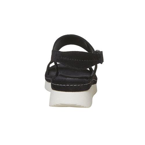 Sandali in pelle da donna bata, nero, 563-6448 - 17