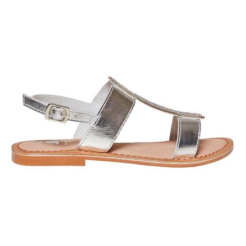 Sandali in pelle con strass mini-b, grigio, 364-2208 - 15
