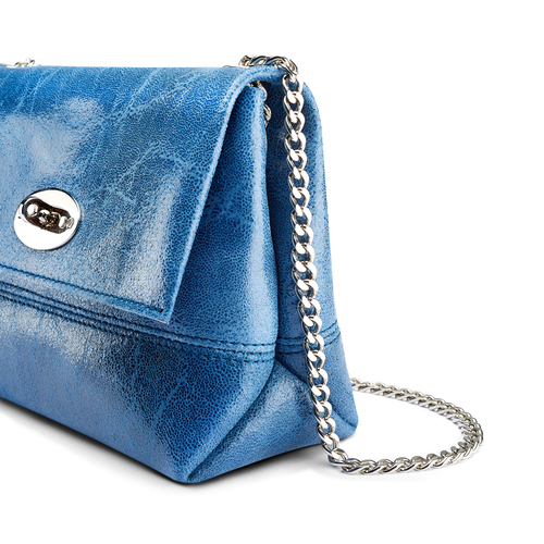 Minibag in pelle bata, blu, 964-9239 - 15