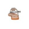 Sandali in pelle con strass mini-b, grigio, 364-2208 - 17