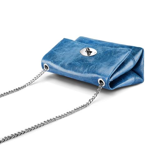 Minibag in pelle bata, blu, 964-9239 - 17