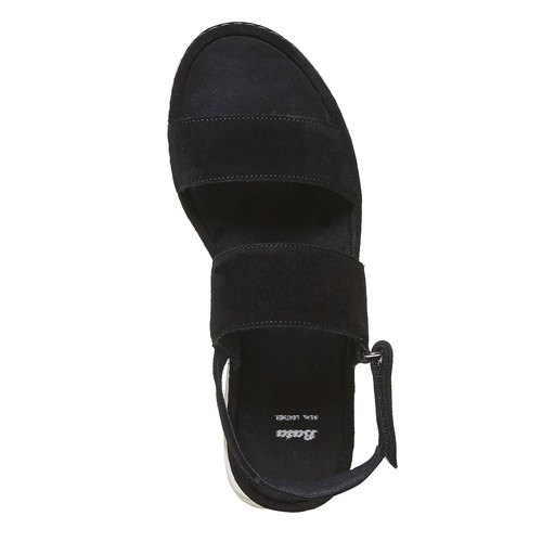 Sandali in pelle da donna bata, nero, 563-6448 - 19